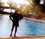 At Hulhule Hotel pool - my regular haunt
