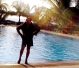 At Hulhule Hotel pool - my regular haunt